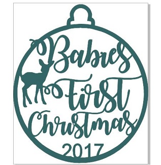 2018 Babies First Christmas  WOOD 100 x 100 mm